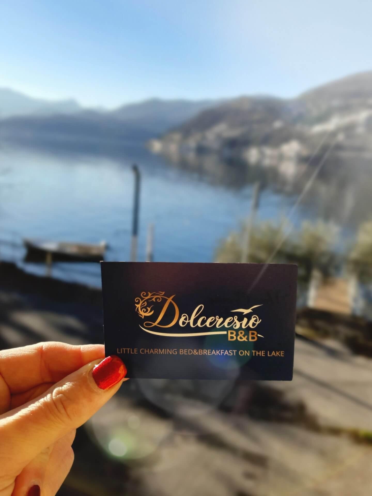Dolceresio Lugano Lake B&B, Brusino Arsizio - Home - Biglietto visita