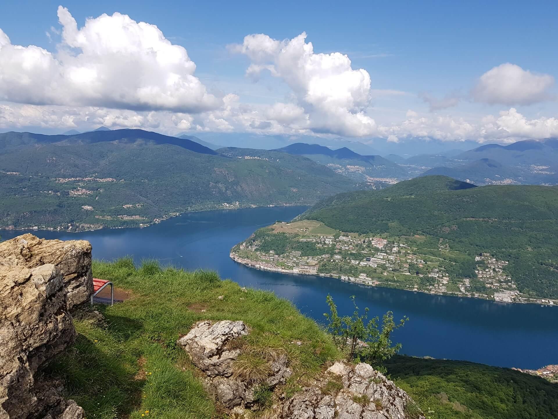 Dolceresio Lugano Lake B&B, Brusino Arsizio - Activities and Surroundings - Vista Morcote dal San Giorgio