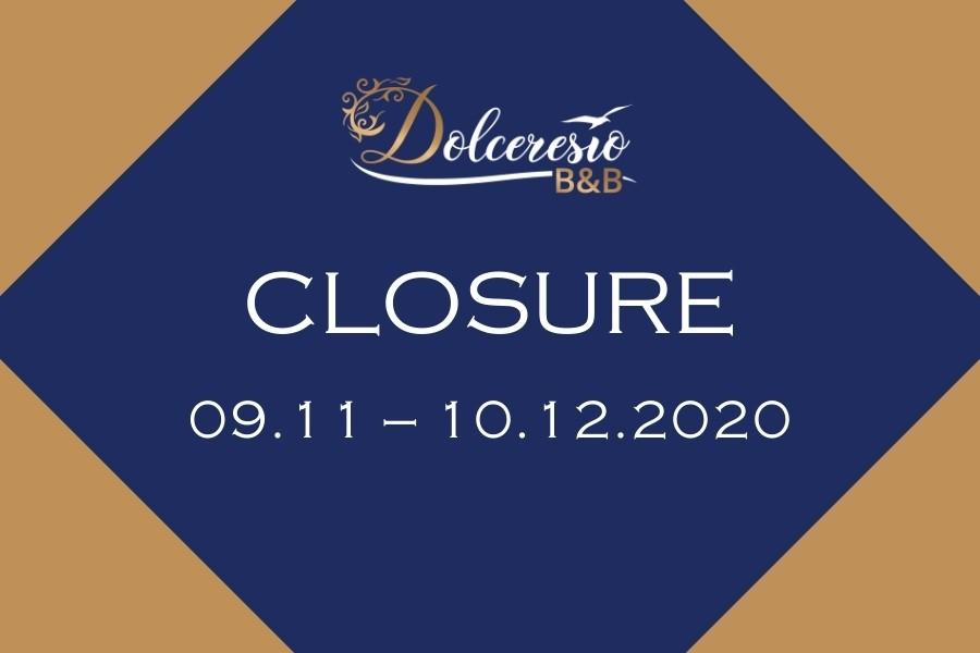 Dolceresio Lugano Lake B&B, Brusino Arsizio - Closure for works - Chiusura 11.2020 EN